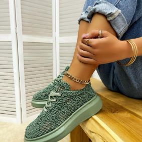 Women sneakers MADELEIN - GREEN