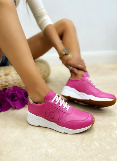 Leather sneakers NADIA - PINK