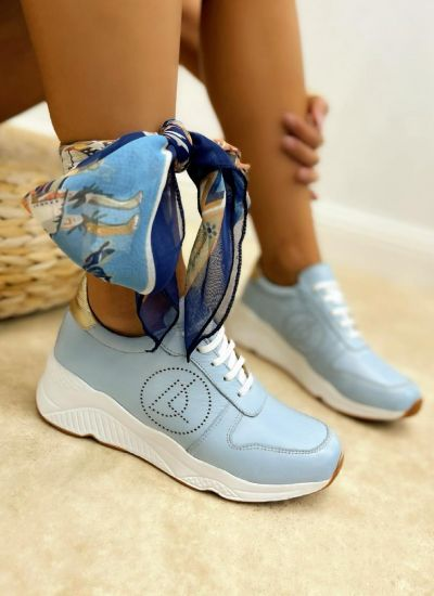 Leather sneakers NADIA - BLUE