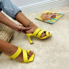 Ženske papuče DANII - ŽUTA