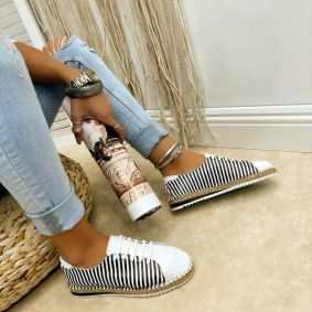 Leather espadrilles ALEXYS - BLACK
