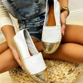 Leather espadrilles YVONNE - WHITE