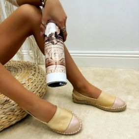 Leather espadrilles YVONNE - BEIGE