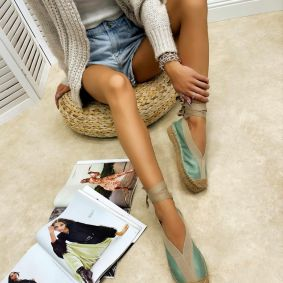 Women espadrilles and slip-ons NEIVE - MINT