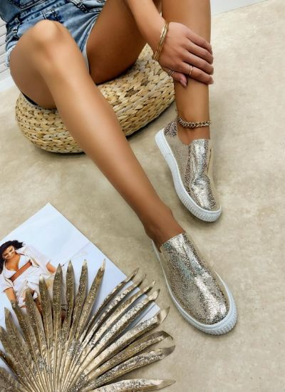 Leather moccasins OJAL - GOLD