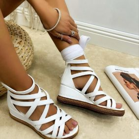 Women sandals KELLY - WHITE