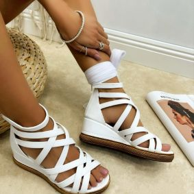 Women sandals KENDRA - WHITE