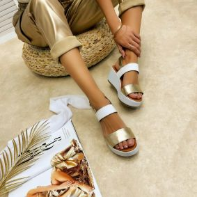 Leather sandals JOEL - GOLD
