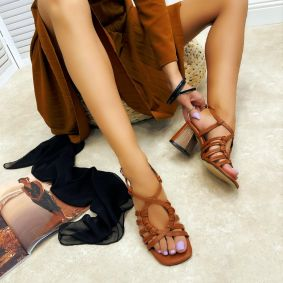 Women sandals GEETI - CAMEL