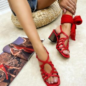 Women sandals GEETI - RED
