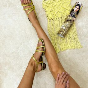 Women sandals AMBER - YELLOW