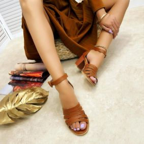 Women sandals DHATRI - CAMEL