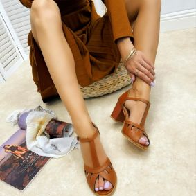 Women sandals HITA - CAMEL