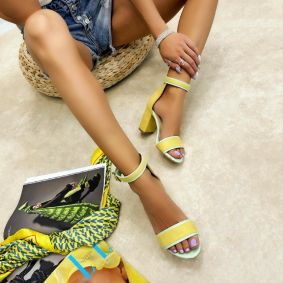 Women sandals ASPEN - YELLOW
