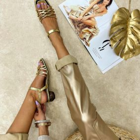 Women sandals UPAMA - GOLD