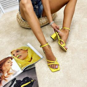 Women sandals ZUBIYA - YELLOW