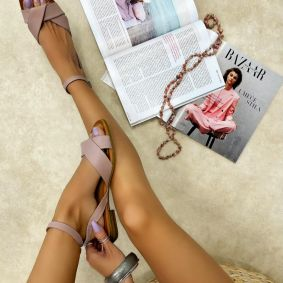 Leather sandals SKY - ROSE