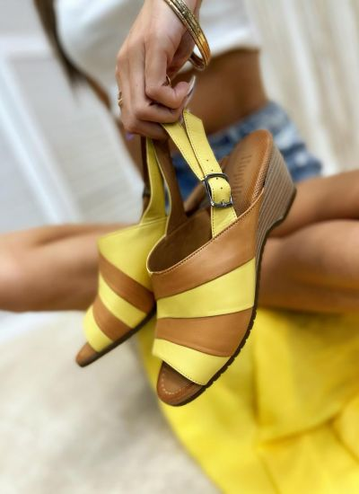Leather sandals BREIGH - YELLOW