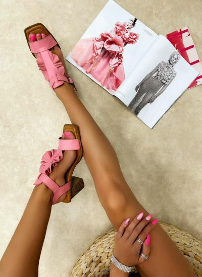Leather sandals ROXY - ROSE