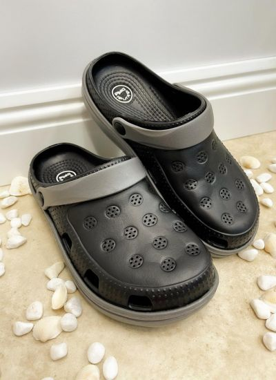 Rubber slippers AMBIKA - BLACK