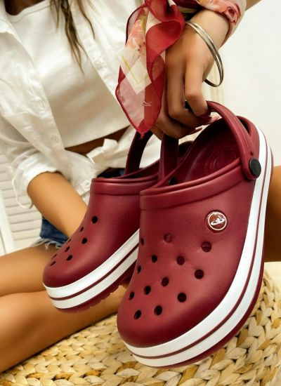 Rubber slippers ASEEL - WINE RED