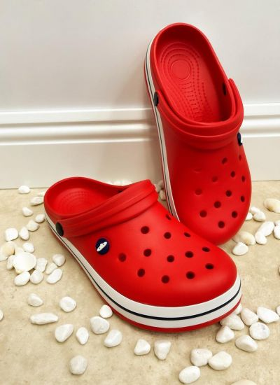 Rubber slippers ASEEL - RED