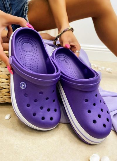 Rubber slippers ASEEL - VIOLET