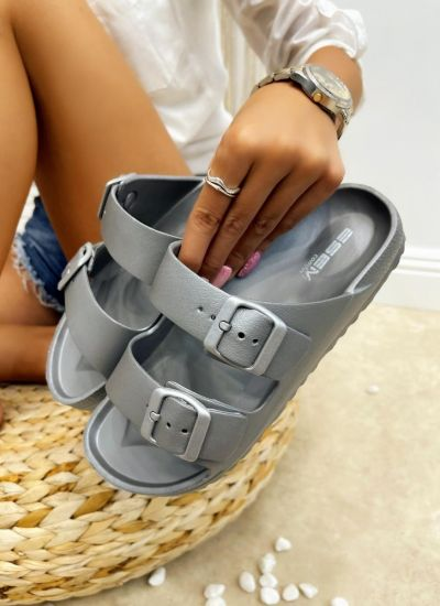Rubber slippers SWAHA  - GREY