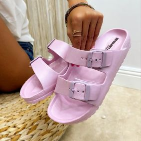 Women rubber slippers and crocs SWAHA  - ROSE