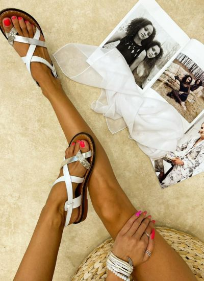 Leather sandals NYIA - WHITE