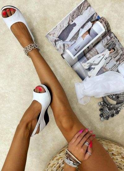 Leather sandals ELOAH - WHITE