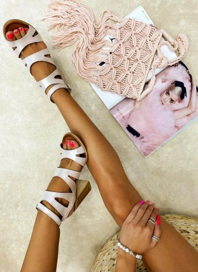 Leather sandals LEILA - ROSE