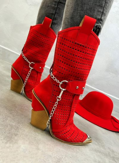 Women ankle boots AVALON  - RED