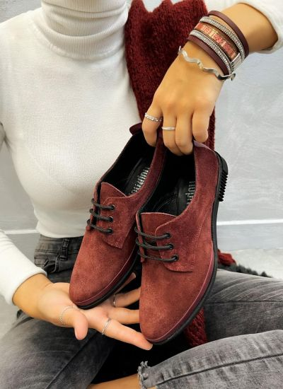 Leather shoes & flats ALARA - WINE RED