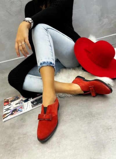 Leather shoes & flats SHIZA - CORAL
