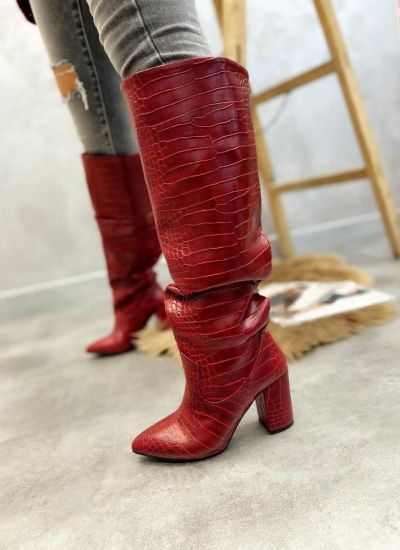 Women boots TEONA - RED