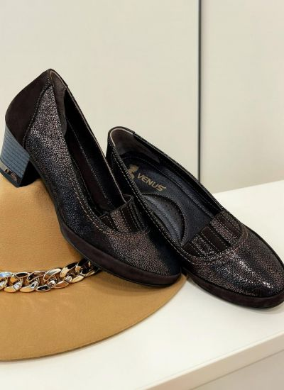 Leather shoes & flats DANAH - BROWN