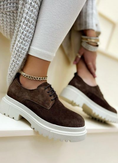Leather shoes & flats MARISA NUBCUK - BROWN
