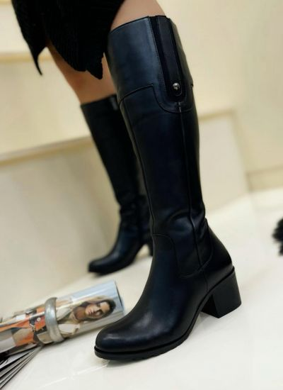 Leather boots LUCIA - BLACK