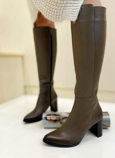 Leather boots LOTTI - BROWN