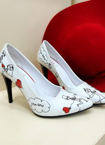 Stilettos and high-heels LOVE STORY - WHITE