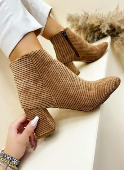 Women ankle boots SONALI - CAMEL