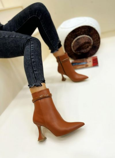 Women ankle boots ANA - CAMEL