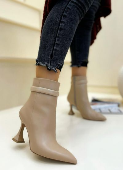 Women ankle boots ANA - BEIGE