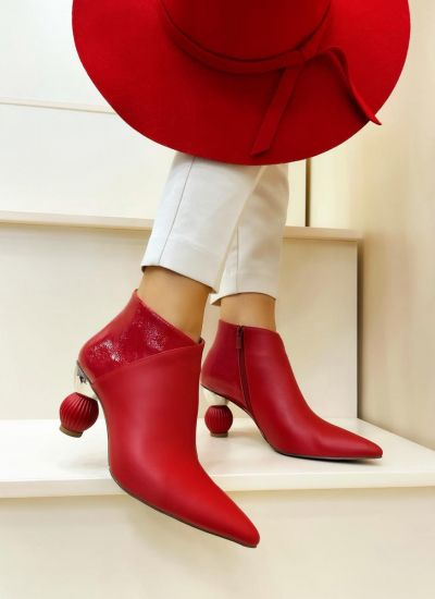 Women ankle boots FREDA - RED