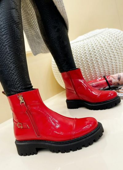 Women ankle boots AMULYA - RED