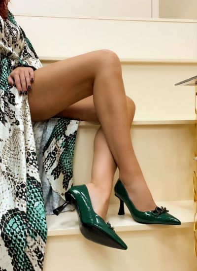 Stilettos and high-heels CHASE - GREEN