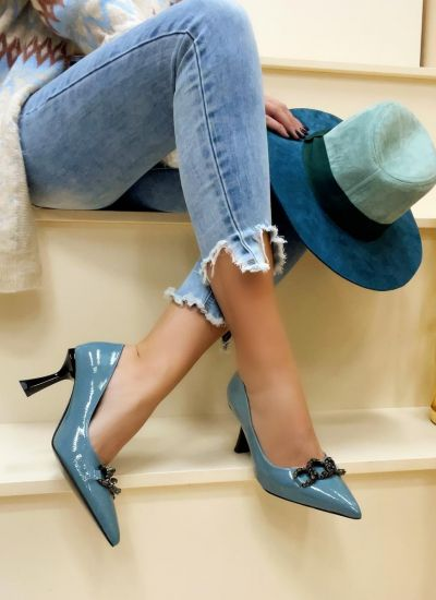 Stilettos and high-heels CHASE - BLUE