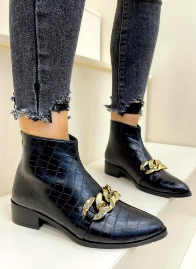 Women ankle boots OLIWIA - BLACK