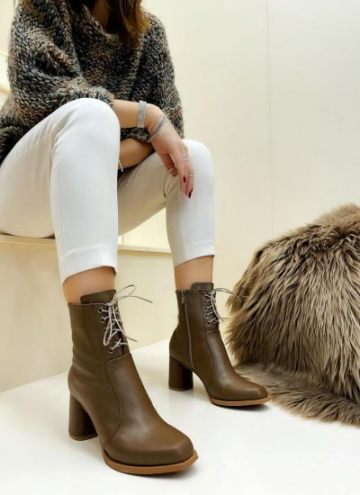 Women ankle boots VIOLA - BROWN